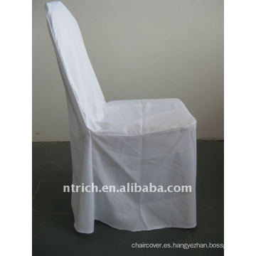 Cubierta de silla de salón de banquete estándar de color blanco, CTV551