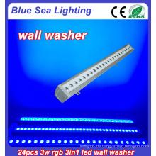 24x3w rgb 3in1 IP65 im Freien geführtes Wand-Unterlegscheibenlicht