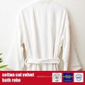 100%Cotton Cut Velvet Bath Robe