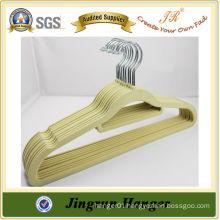 Chinese Manufacture Wholesale Plastic Velvet Hanger