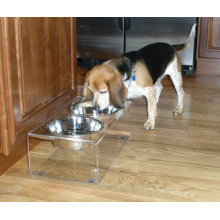 Free Standing Acrylic Pet Dining Table