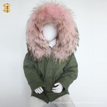 Veste d'hiver en fourrure fausse fourrure en usine pour enfant