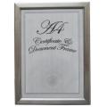 Фрейм документа размер А4 серебро моды