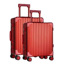 bagagem de mala de alumínio de casca dura com várias cores
