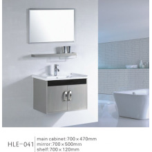 Cabinet de salle de bain mural en acier inoxydable miroir de conception moderne