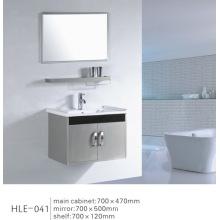 Gabinete de banheiro de parede de aço inoxidável espelhado com design moderno