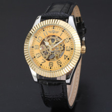 luxury golden watch with ruby master automatic mechanical  movement watch