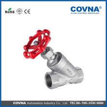 Válvula de asiento angular de acero inoxidable PN16 / 40