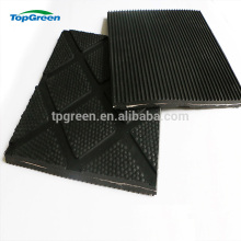 manufacture cheap hammer patterned rubber cow mats