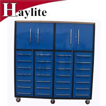 armario de metal con soporte de estante