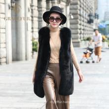 Attractive fox women fur vest trade