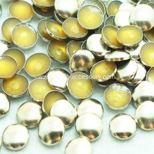 Iron On Domed Metal Nailheads (Pearl Studs)