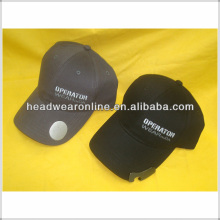 Baseball cap with bottle opener