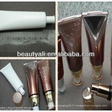 Tubes d'emballage plastique cosmétiques BB avec pompe sans air