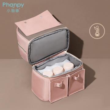 Insulated Breastmilk Bottle Cooler Bag Small Backpack