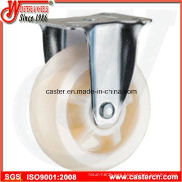 4 Inch Medium Duty Fixedl White PP Caster