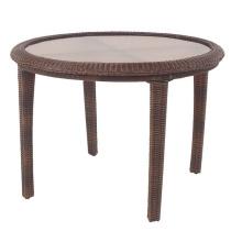 Mesa de comedor de jardín de mimbre del patio muebles de exterior rota