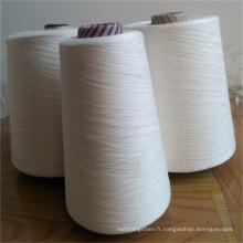 Fil cru 100% de viscose de rayonne pour tricoter le tricotage à la main