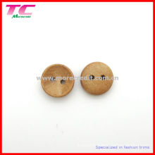Bouton rond en bois naturel de 13 mm pour vêtements pour bébés