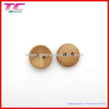 Botão de madeira de 13mm 2 furos