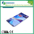 Biodegradable flushable wipes 36*40cm YELLOW RED BLUE
