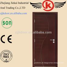 JK-HW9104 Projetos de porta principal de madeira, cores de pintura Portas de madeira