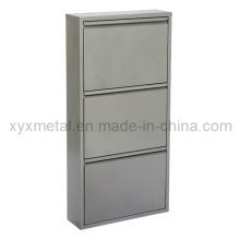 Cabinet de chaussure en métal gris de mode