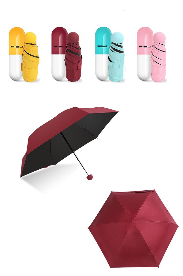 MINI Anti-UV For Ladies Women Capsule Samll Umbrellas04