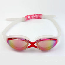 Fashion Colorful Silicone Rubber Swim Glasses with RoHS Certify