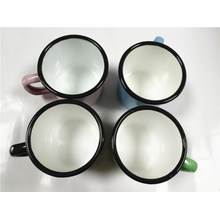 7cm 280ml Enamel Mug with Rolling Rim