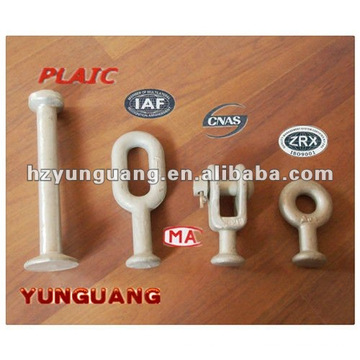 hot-dip galvanized steel various type Ball-eyes electric telecommunication industry cable accessories forging link fitting