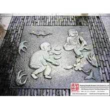 Hand Carved Hotel Ground Relieve