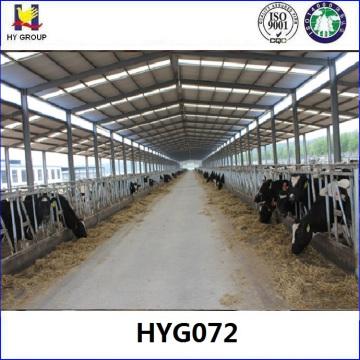 Prefab estructura de acero ganado de ganado