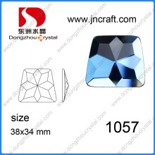 Красочный нерегулярный стеклянный камень ручной работы для одежды и обуви