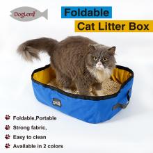 Foldable Travel Cat Litter Pan cleaning waterproof cat box