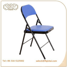 Wholesale cheap iron cushion metal folding chair