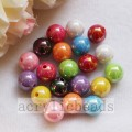 Round AB finished acrylic beads solid colors spacer beads