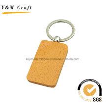 Anel chave de madeira da forma quadrada quente da venda da fábrica (Y03919)