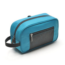 Fashion Blue Nylon Clutch Cosmetic Wash Toiletry Bag (YKY7516)