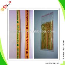 Laços de torção de fio duplo de folha de papel / fecho de banda de banda / saco