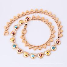 41689 gros accessoires de bijoux turcs de mode 18k accessoires délicats collier de bijoux plaqué or