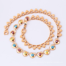 41689 wholesale turkish jewelry accessories fashion 18k delicate  accessories gold plated jewelry necklace