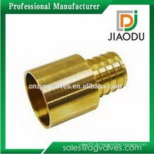 1 '' China Herstellung hochwertiger Messing PVC-Rohr-Armaturen männlichen runden oder Sechskant-Adapter