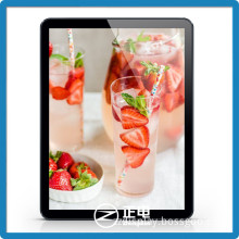 Top selling products promotion rounded corner tablet design fast food menu board business used sign board large light boxes
