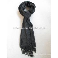 Viscose pashmina écharpe noire