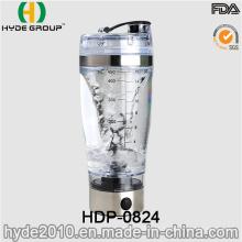 Garrafa recarregável plástica do abanador do redemoinho do USB 450ml, garrafa elétrica plástica livre da proteína de BPA (HDP-0824)