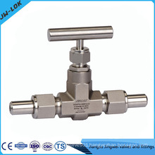 One-piece forged valve, forging valve body, one-piece forged needle valve