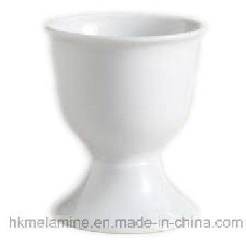 Sostenedor redondo blanco de la melamina del huevo