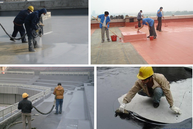 Waterbased PU coating for underground waterproofing