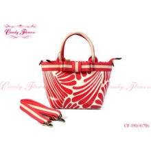 Red and White small tote bag Ladies Shoulder Handbag in Wat